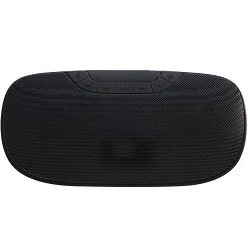 "Xiao Jian Portable Mini Card Speaker FM Radio Screen Display MP3 Player Multi-Function Desktop Home Audio Blue Black Optional/7.02""X3.66""X1.61"" Speaker (Color : Black)"