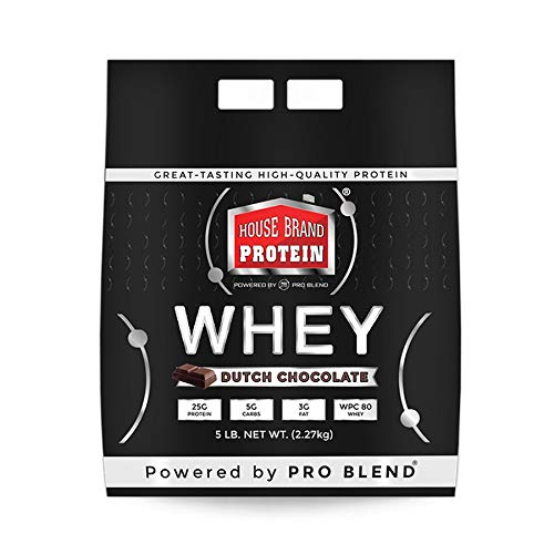 House Brand Whey Protein Powder, Dutch Chocolate, 5 Pound