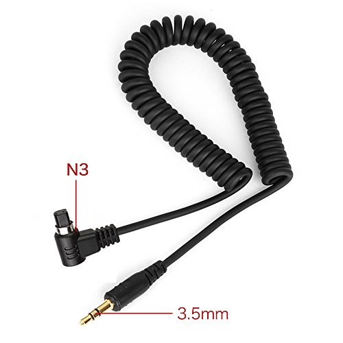Pixel J3.5-30/N3 Camera Shutter Connecting Cable for Professional Canon EOS 1D/1Ds/5D/6D/7D Series Camera