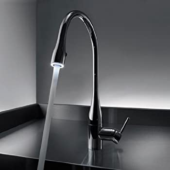 KWC Faucets 10.121.103.700 EVE Pull Down Kitchen Faucet with light ...