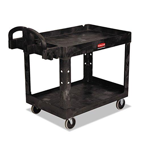 (Rubbermaid Commercial 4520-88-BLA Utility Carts, 500 lb, 45 1/4