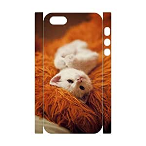 Customized Phone Case with Hard Shell Protection for Iphone 5,5S 3D case with Cute cartoon cat lxa#973094