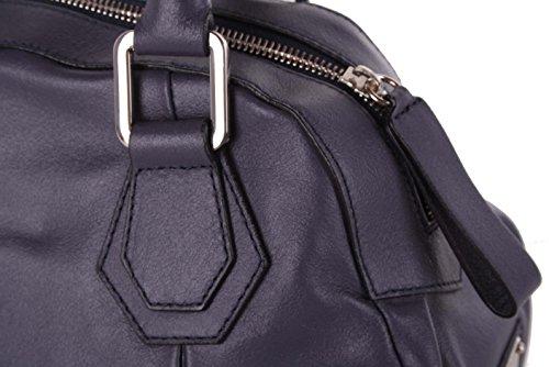 Gian Franco Ferre borsa custodia in vera pelle grigio-blu X187