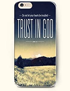 iPhone 6 plus Case,OOFIT iPhone 6 plus Hard Case **NEW** Case with the Design of Do not let your hearts be troubled trust in God John 14:1 - Case for Apple iPhone iPhone 6 plus (2014) Verizon, AT&T Sprint, T-mobile
