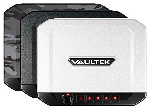 VAULTEK VT10i Lightweight Biometric Handgun Safe Smart Pistol Safe with Auto-Open Lid and Rechargeable Battery