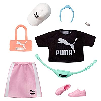 Barbie Storytelling Fashion Pack of Doll Clothes Inspired by Puma: Top, Skirt and 6 Accessories Dolls, Gift for 3 to 8 Year Olds: Toys & Games