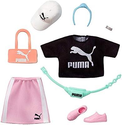 Amazon.es: Barbie Pack de Moda Puma Set Camisa y Falda deportiva con Accesorios (Mattel Gjg32), color/modelo surtido ...