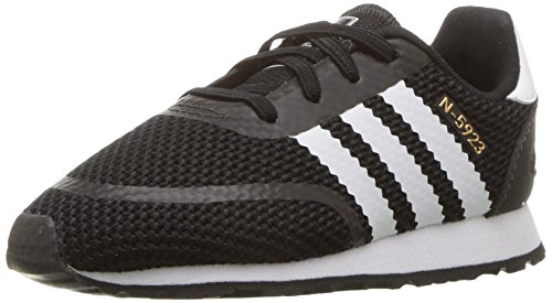adidas Baby N-5923 EL I Sneaker, Core Black,White, Grey Three Fabric, 4K M US Infant