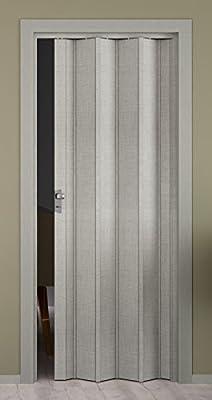 Puerta plegable elvari, efecto 3d gris tejida, volllamelle, B 87,0 X H 202 cm: Amazon.es: Bricolaje y herramientas
