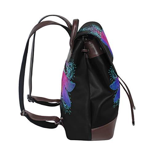 Kvinnor PU-läder trollslända ryggsäck handväska resa skola axelväska ledig dagväska