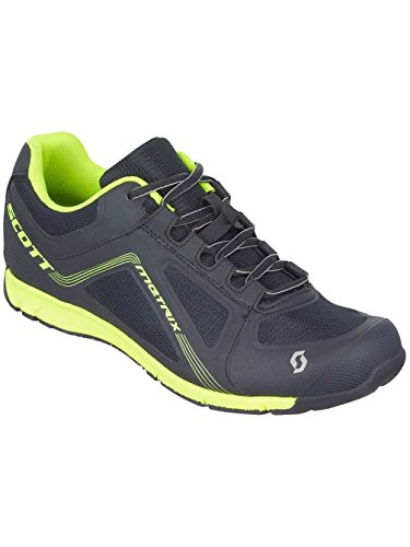 Scott Metrix Zapatillas, Unisex Adulto negro y amarillo neón