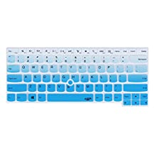 Leze - Ultra Thin Silicone Laptop Keyboard Cover Skin Protector for Thinkpad T460 T460p T460s T470 T470s E460 E645 E470 E475 L460, P40 Yoga, Thinkpad X1 Yoga, Thinkpad Yoga 460 Laptop - Gradual Blue