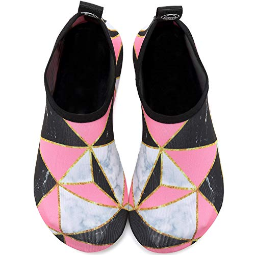 Vifuur Women dry Shoes Sports Socks on Splice Slip Men Water For Marble Barefoot Kids Aqua Yoga Quick 1prO1qWc