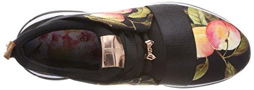 Ted Baker Dame Cepap Sneaker Sort (fersken Blomstre Sort) QrzWB2gTGv
