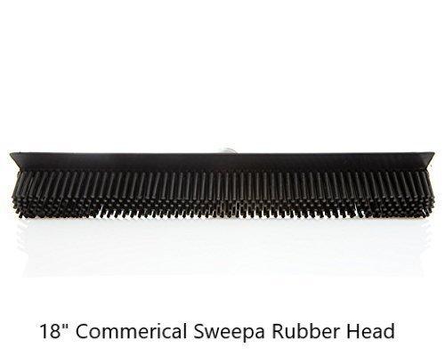 Sweepaゴムほうき。さまざまな極とヘッドサイズあります。オランダゴムほうき、withスキージ。ボーナスクリーニングクロスご購入ごと。 Commercial Head w/59