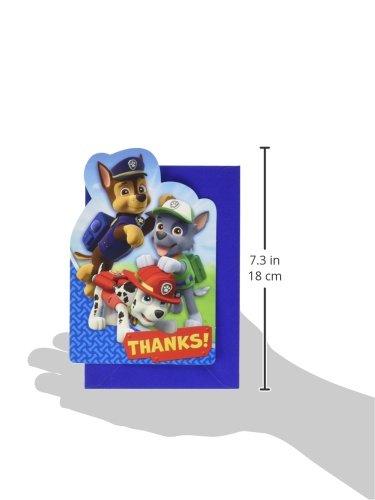 TradeMart Inc 48 Ct Party Favor 481462 Amscan Paw Patrol Thank You Postcard