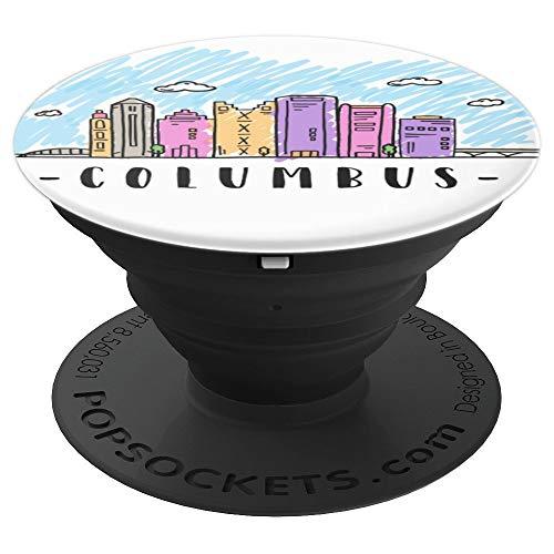 Columbus Ohio skyline shirt in multi color watercolors
