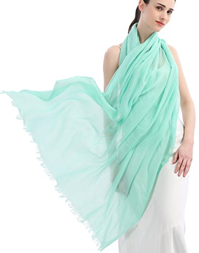 Premium Women Extreme Soft Scarf Wrap Shawl For Any Season Super Size Rich Color Choice Aqua