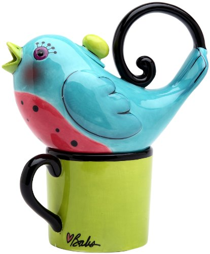 Appletree 6-7/8-Inch Ceramic Blue Bird Tea For One