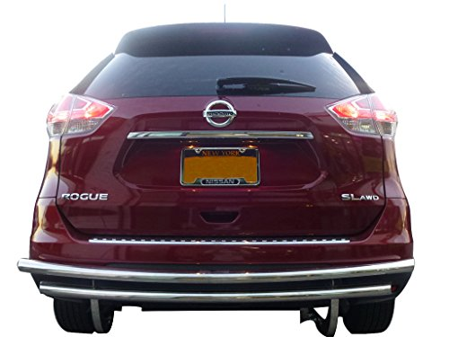VANGUARD Off Road VGRBG-1018-1169SS For Nissan Rogue 2008-2018 Rear Bumper Guard Stainless Steel Double Layer Style