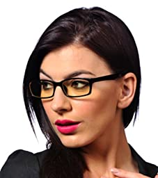 GAMMA RAY 001 Professional Computer Reading Glasses Anti Blue Light Anti Glare Anti Fatigue Anti Reflective and UV400 w/ TV Screen Gaming Monitor Electromagnetic Radiation Protection Anti Fog Scratch Resistant - With 0.00x Magnification