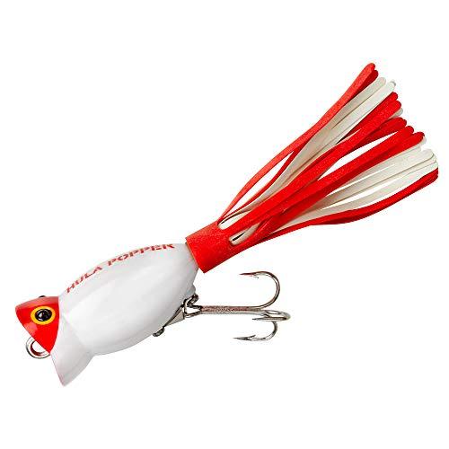 Arbogast Hula Popper White Red Head