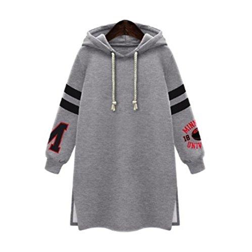 20's Flapper Coat - Big Promotion! Women Shirts WEUIE Women's Winter Womens Hooded Hoodies Sweatshirt Casual Coat Tops Pullover Plus Size (Size 4XL/ US 20, Gray)