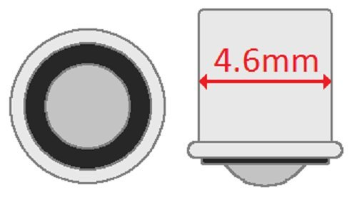 6 V T-1.25 shape Box of 10 CEC Industries #8628 Bulbs 1.2 W SX5s Base
