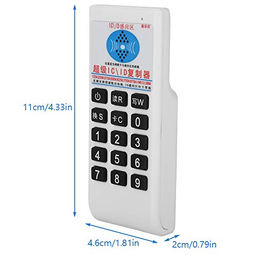 IC/ID Card Reader,Handheld 125KHZ/250KHZ/375KHZ/500KHZ/13.56MHZ RFID IC/ID Card Reader Writer Copier Duplicator, Supports ISO 14443 Type A and B