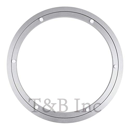 - TamBee 350mm Lazy Susan 14 Inch Aluminum Bearing Metal Rotating Turntable Bearings Swivel Plate Hardware for Dining-Table