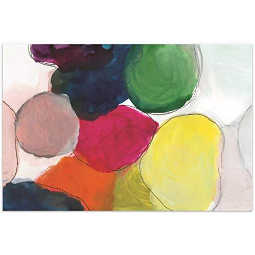 """Empire Art Direct Colorful Abstract Frameless Tempered Glass Contemporary Wall Art 48"""" x 32"""" x 0.2"""" Ready to Hang"""