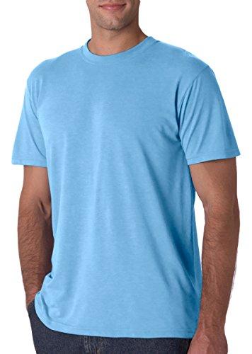 Jerzees 21 Adult Sport Polyester T-Shirt, Light Blue, Large