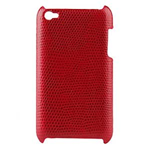 Piaopiao Lizard Skin Hard Case for iPod Touch 4 (Red)