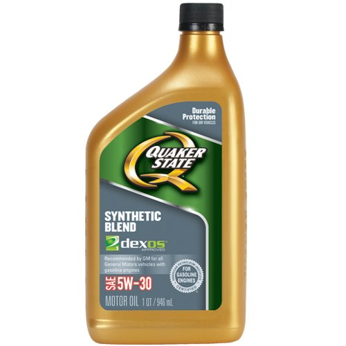 Quaker State 550030990 Synthetic Blend 5W-30 Lubricant Motor Oil - 1 quart