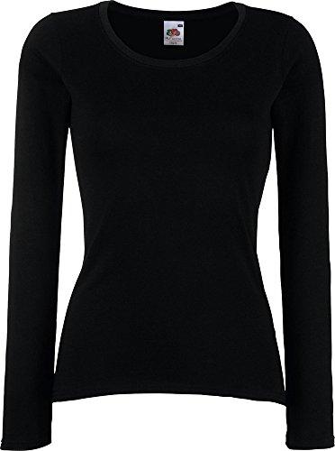 Valueweight de Lady-Fit Wear de seguridad para anclaje en mujer manga corte femenino cuello redondo superior ajuste para el negro