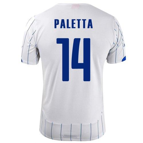 偽装する望むを必要としていますPUMA PALETTA #14 ITALY AWAY JERSEY WORLD CUP 2014/サッカーユニフォーム イタリア代表 レプリカ?アウェイ用 ワールドカップ2014 背番号14 パレッタ