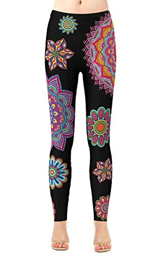 Girls Patterned Pants Full Length Brushed Lightweight Tights Gym Tummy Control Leggings Plus