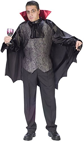 GTH Men's Vampire Cape Dapper Dracula Halloween Scary Costume, One Size (Dapper Halloween Costumes)