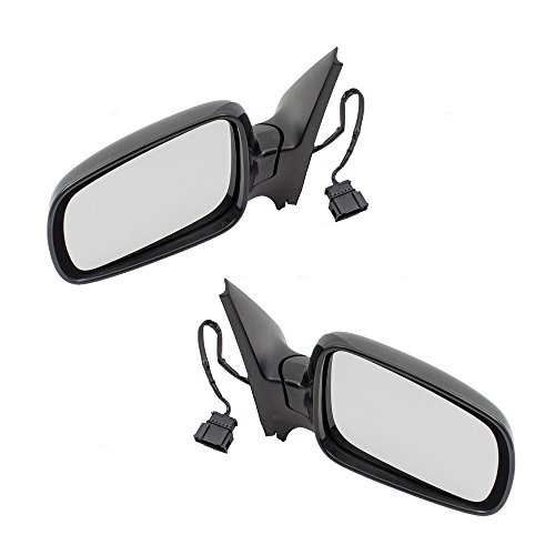 Pair Set Power Side View Mirrors Heated Clear Glass Replacement for VW Volkswagen Golf Jetta 1J1 857 507 D 01C 1J1857508K01C