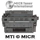 MTI © ECO Compatible HP CE255A (55A) MICR Toner Cartridge for HP LaserJet Printers: P3010, P3015, P3015n, P3015d, P3015dn, P3015x, P3016, M521dn, M521dw, MFP M525c, MFP M525dn, MFP M525f