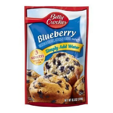 Betty Crocker Blueberry Muffin Mix 6.5oz Pouch (Pack of 12)