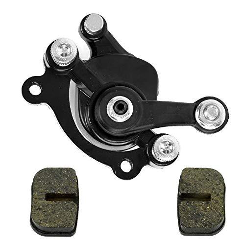 HIAORS Black Rear Disc Brake Caliper With Replacement Brake Pad for 97cc 2.8HP DB30 Baja Motorsports Doodle Bug Mini Dirt Bike Parts