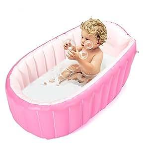 Amazon Com Inflatable Baby Bathtub Topist Portable Mini