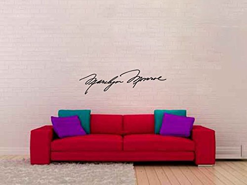 Marilyn Monroe Signature Vinyl Wall Words Decal Sticker Graphic