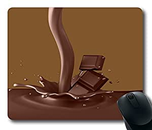 "Chocolate Top Game Mouse Pad PC Computer Gaming Mousepad Fabric + Rubber Material in 220mm*180mm*3mm (9""*7"") -827083"