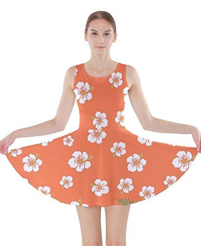 CowCow - Vestido - para mujer Orange Hawaii X-Small