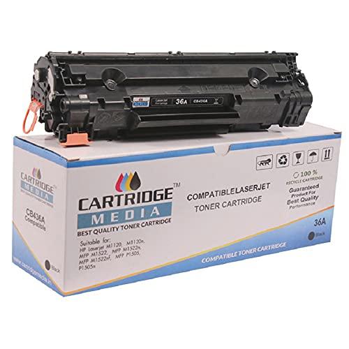 CARTRIDGE MEDIA 36A Black Premuim Quality and Genuine Product Toner Cartridge CB436A