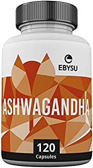 EBYSU Ashwagandha Supplement - 120 Capsules with Black Pepper Extract - Traditionally Used in Ayurveda – Nervi