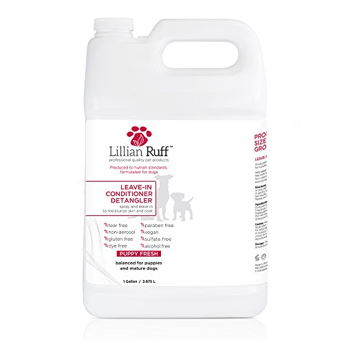 Detangler Gallon - Lillian Ruff - Pet Dog Leave in Conditioner & Detangler Treatment Spray 8oz - Moisturizer For Normal, Dry & Sensitive Skin - Made In The USA (Gallon)