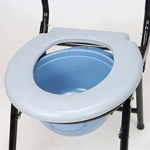 介護用ポータブルトイレ椅子 简易 ポータブルトイレ 折畳可 背もたれ・アームレスト付き 折りたたみ 便器 チェア 軽量 仮設トイレ 防災 介護用
